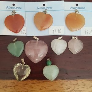 9 Heart Pendants